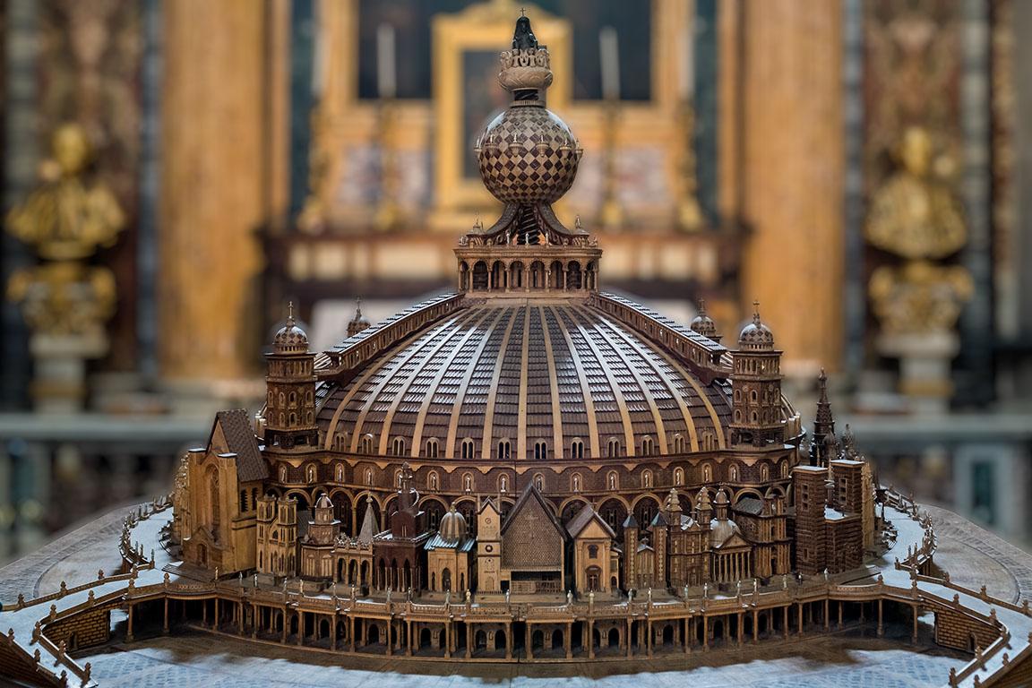 römische Weltkirhce mit 200m Durchmesser. Die Kirche wurde nie gebaut