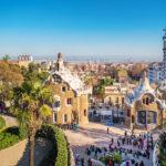 Barcelona - Park Güell Ausblick auf Barcelona
