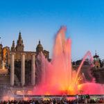 Higlights in Barcelona - MNAC -kostenlose Springbrunnen Show