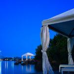 Korfu Imperial Strand bei Nacht