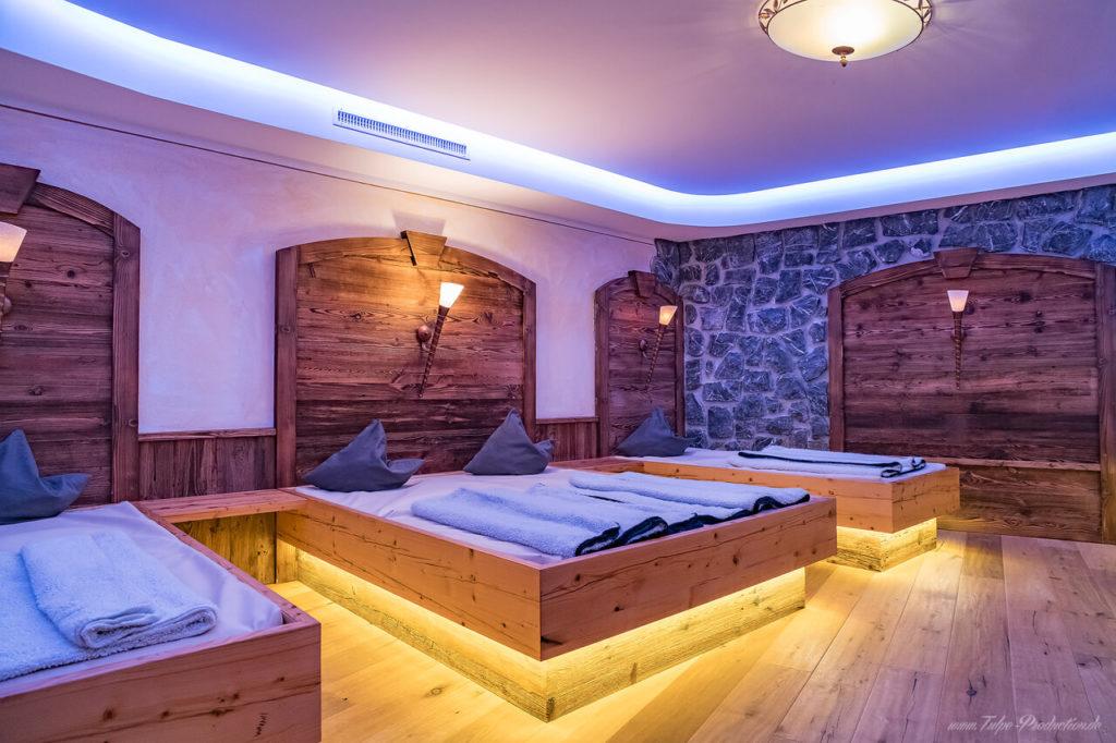 Wasserbetten im Saunaruheraum - Hotelbewertung Tulpe-Production.de