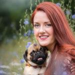 Hundefotos in Leipzig mit Benita und Hund Eddie