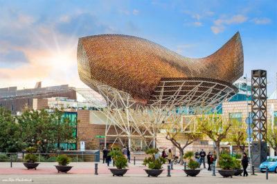 Reisebericht Barcelona - moderne Architektur - Fisch aus Stahl