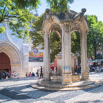 Lissabon Springbrunnen Carmo Stadtteil Chiado