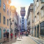 berühmte Aufzug von Lissabon