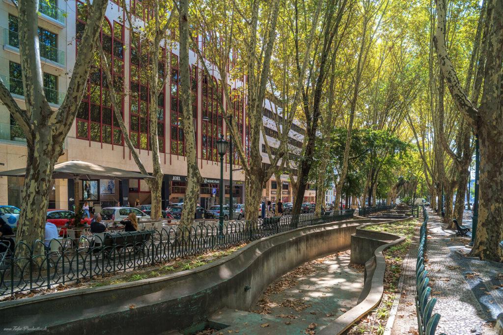 Prachtstrasse in Lissabon