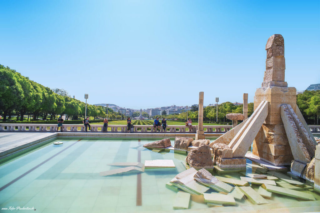 Reisebericht Lissabon Parque Eduardo - Blick zum Meer