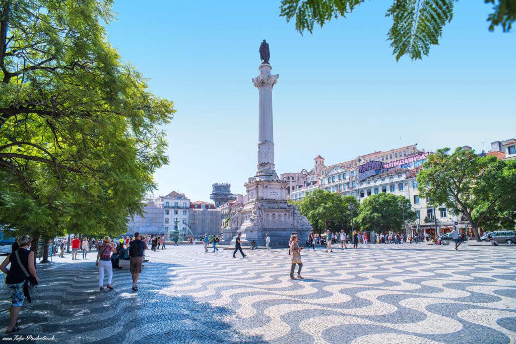 Lissabon Rossio Platz - Reisebericht von Tulpe-Production