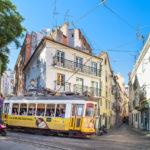 Bergstrassenbahn in Lissabon
