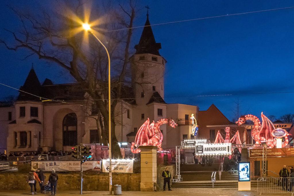Zooeingang Halle Saale magische Lichterwelten