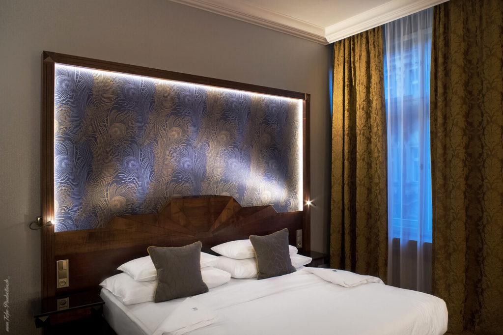Kingsizebett im Art Deco Imperial Hotel Prag - Executive Zimmer