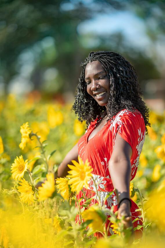 schönere Portraits mit Sonnenblumen