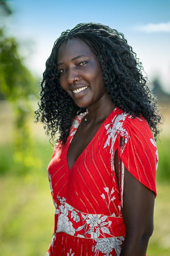 Afrikanische Schönheit Portraitfoto Tulpe-Production