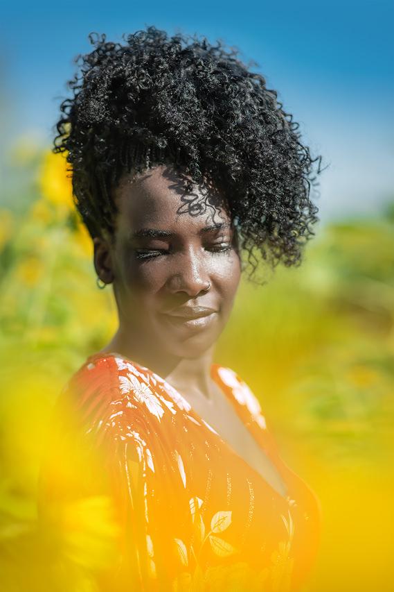 Portraitfoto afrikanische Frau
