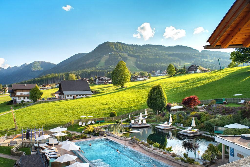 Reisebericht Schladming - Aussicht Hotel Schwaigerhof