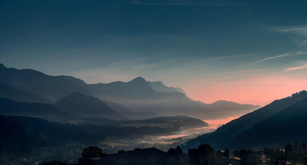 Morgennebel über Schladming