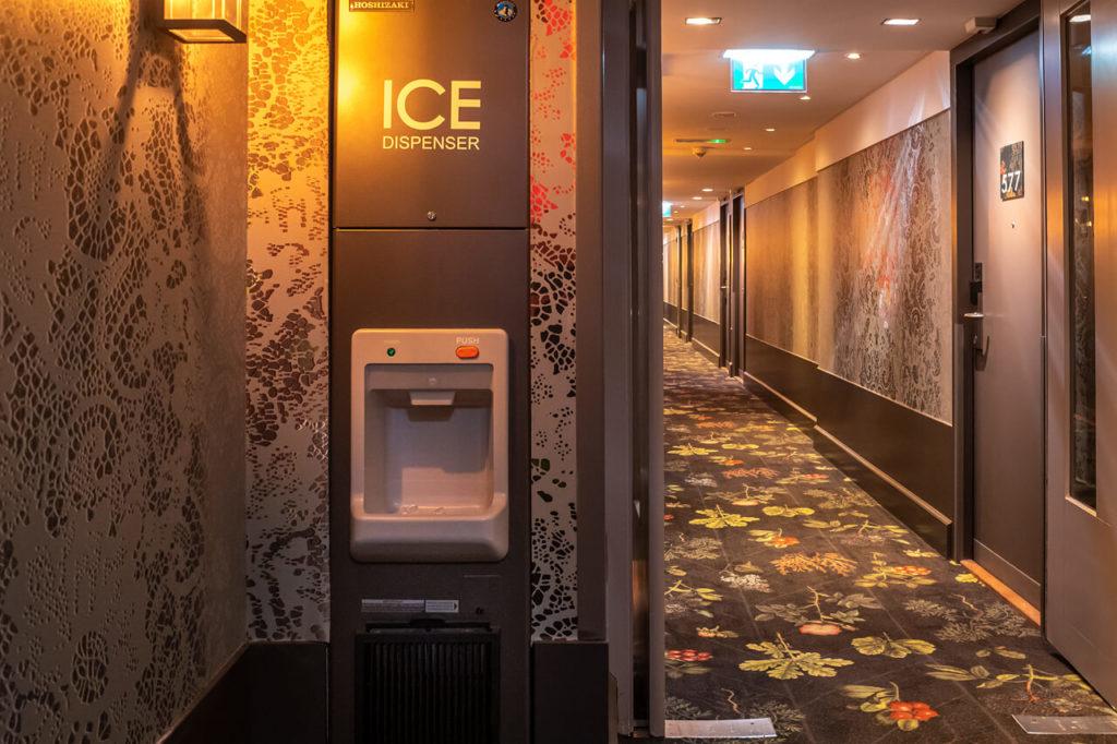 gute Service mit Eisspender im Hotel